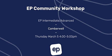 EP Community Workshop - Camberwell tickets