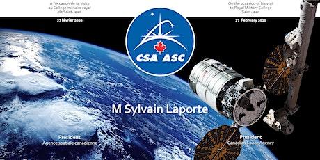 Mr Sylvain Laporte, directeur Agence spatiale canadienne billets