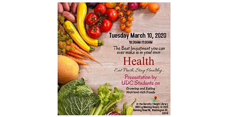 Presentation- Invest in Your Health: Nutrient-rich Foods tickets