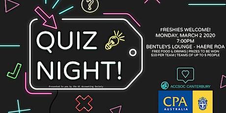 ACCSOC Quiz Night  tickets