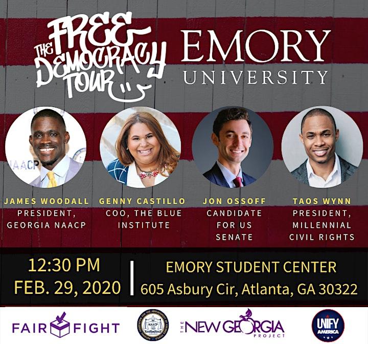 FREE DEMOCRACY TOUR - Emory University image