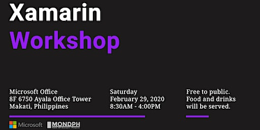 Xamarin Workshop - February