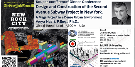 Design and Construction of the Second Avenue Subway Project in New York tickets