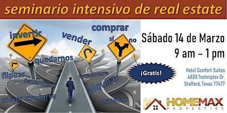 SEMINARIO INTENSIVO DE REAL ESTATE - Marzo 14, 2020 tickets