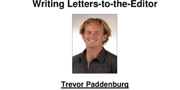 Chasing Editorial and Writing Letters to the Editor - workshop
