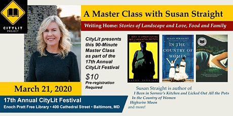 A Master Class with Susan Straight tickets