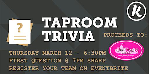 Kichesippi Taproom Trivia for Furry Tales Rescue!