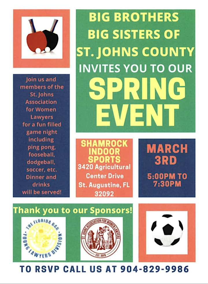 Spring Event with Big Brothers Big Sisters of St. Johns County image