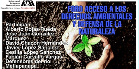 Foro Acceso a los Derechos ambientales y Defensa de la Naturaleza boletos