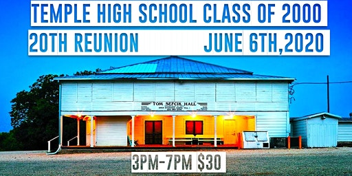 THS Class of 2000 20th High School Reunion June 6th, 2020 3pm