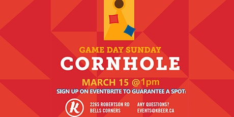 SUNDAY GAME DAY - CORNHOLE SERIES (beanbag toss) tickets