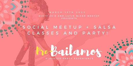 Social Meetup + Salsa Classes and Party! (No Fee) tickets