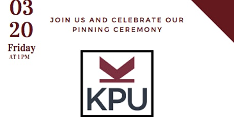 KPU Nursing Class of 2020 Pinning Ceremony tickets