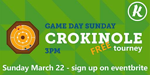 SUNDAY GAME DAY - Crokinole Tourney