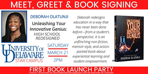 Book Signing and Launch Party: 17-year-old Author Deborah Olatunji