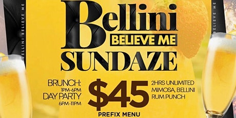 Bellini Believe me Sundaze Brunch Day Party NYC Hudson Station @Chase.Simms tickets