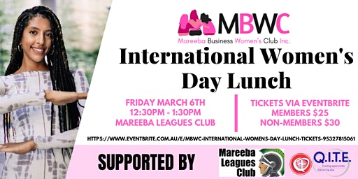 MBWC International Women's Day Lunch