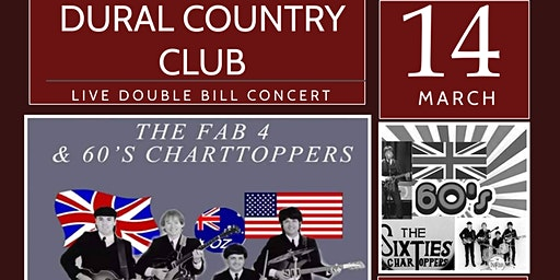 Chart Toppers and the Fab Four Double Bill at Dural Country Club
