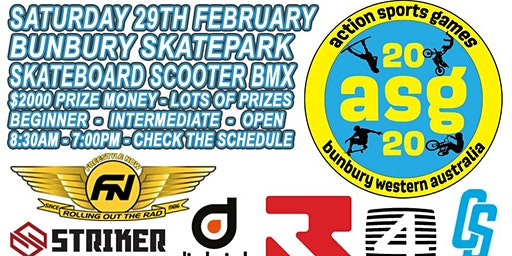 2020 BUNBURY ACTION SPORTS GAMES Skate, Scooter, BMX Competition