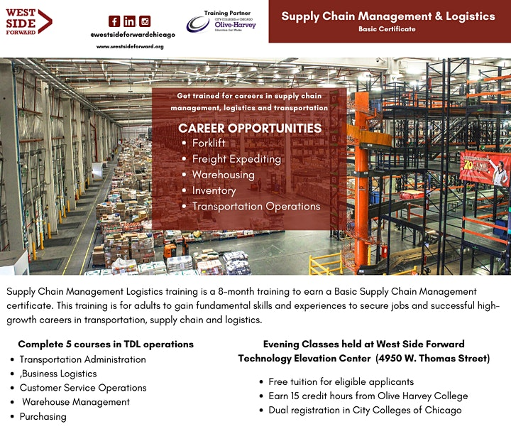 Careers in Transportation Distribution & Logistics (Info Session) image