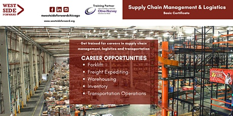 Get trained for at no cost for careers in supply chain management, logistic tickets