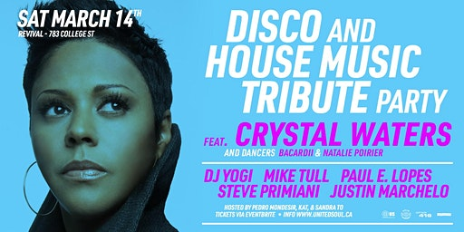 Disco & House Music Tribute Party w/ Crystal Waters