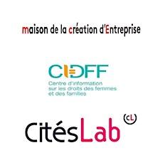 CIDFF, CitésLab, Maison de la Création d'Entreprise logo