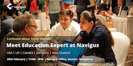 Meet Education Expert at Navigus. tickets