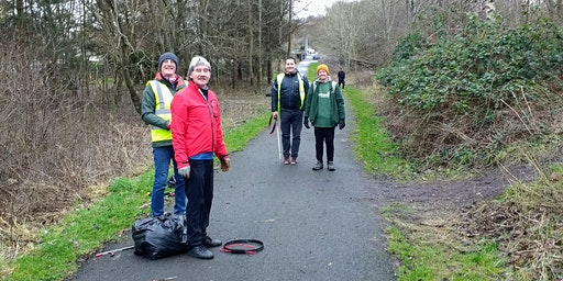 National Cycle Network Litterpick, Westburn, nr Cambuslang(route 75)