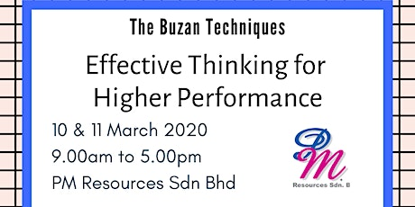 Effective Thinking for Higher Performance [10 & 11 March 2020] tickets