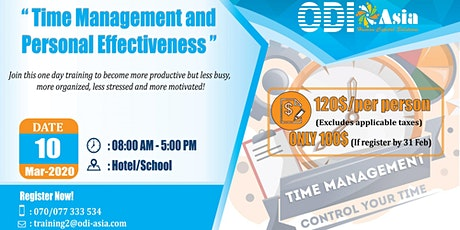 Time Management and Personal Effectiveness tickets