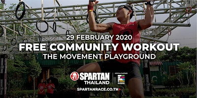 SPARTAN COMMUNITY WORKOUT AT THE MOVEMENT PLAYGROU