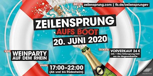 ZEILENSPRUNG Bootsparty