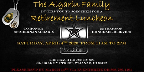 SFC Hernan Algarin Retirement Event tickets