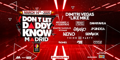 Don't Let Daddy Know Madrid 2020 #DLDKSPAIN entradas