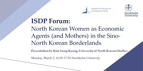 ISDP Forum: North Korean Women as Economic Agents tickets