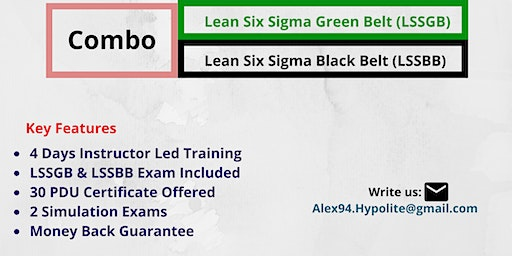 LSSGB And LSSBB Combo Training Course In Accoville, WV