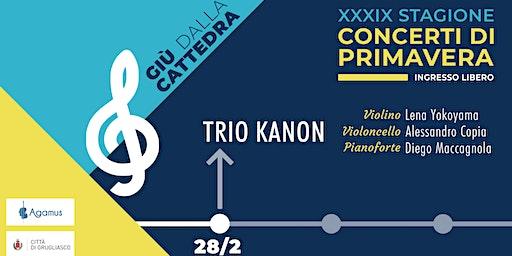 [ANNULLATO] Trio Kanon - 39° stagione concerti «Giù dalla cattedra»