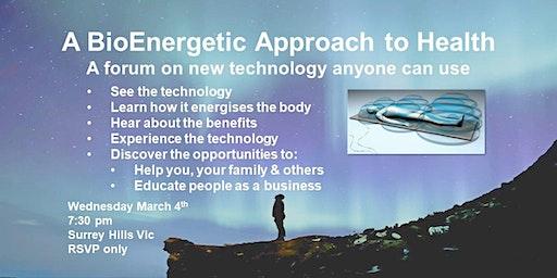 A BioEnergetic Approach to Heallth