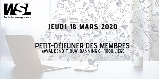 Petit-déjeuner jeudi 19 mars @Val Benoît - Communication | Eric Poskin