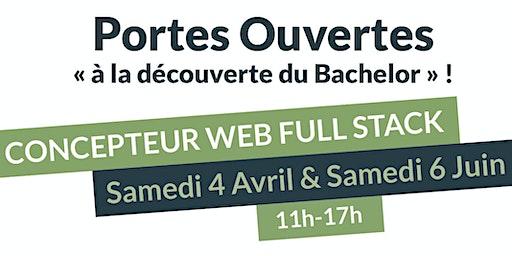 """""""À la découverte du Bachelor Concepteur Full Stack""""."""