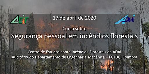 Curso sobre segurança pessoal nos incêndios florestais
