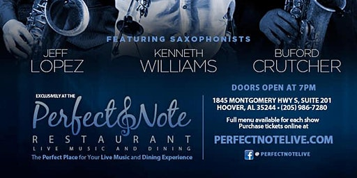 Saxaphone Legends Tribute | @ ThePerfectNote | $10.00 Tickets
