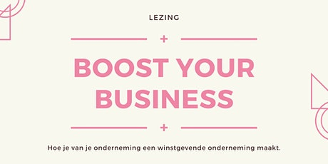 Lezing: Boost your business tickets