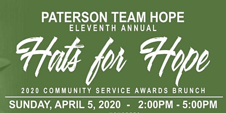 Paterson Team HOPE 11th Annual Hats for Hope tickets