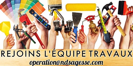 Inscription journée travaux du 04 avril 2020 billets