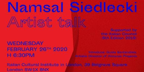 Presentation of Crisalidi by Namsal Siedlecki tickets