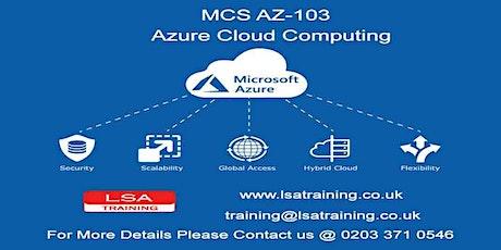 MCS AZ-103 (Introduction to Azure Cloud Computing) tickets