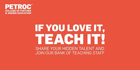 If you love it, teach it: Mid Devon Recruitment Event tickets