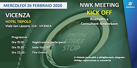 KICK OFF Neworkom Area NordEst- TRAINING per Consultant NWK - VICENZA biglietti